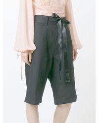 Nicopanda | Black Patchwork Denim Shorts | Lyst