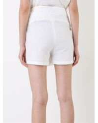 Ann Demeulemeester - White Wrap Front Shorts - Lyst