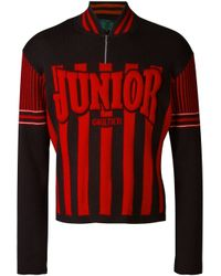 Jean Paul Gaultier - Black Raised Logo Jumper for Men - Lyst