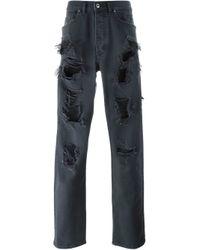 DIESEL - Black 'p-cheyenne Destroy' Jeans for Men - Lyst