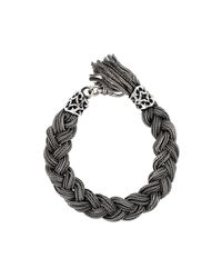 Emanuele Bicocchi | Metallic Braided Bracelet for Men | Lyst