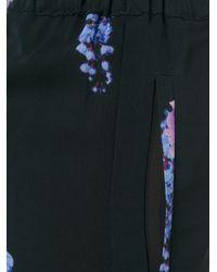 Francesco Scognamiglio - Black Floral Print Trousers - Lyst
