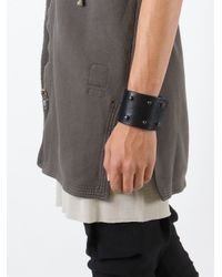 Rick Owens - Black 'high' Bracelet - Lyst