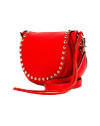 Rebecca Minkoff | Red 'unlined' Saddle Crossbody Bag | Lyst