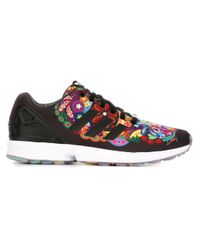 Adidas Originals - Black 'zx Flux' Sneakers for Men - Lyst