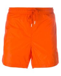 orange moncler swim shorts