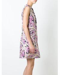Giamba - Multicolor Printed Flared Dress - Lyst