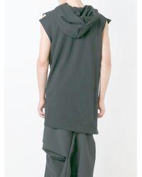 Moohong - Black Sleeveless Asymmetric Hoodie for Men - Lyst