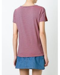 A.P.C. - Blue 'theo' T-shirt - Lyst