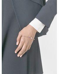 Eshvi - Metallic Gemstone Hand Bracelet - Lyst