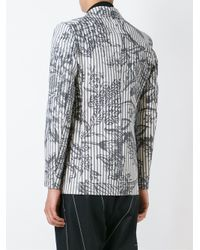 Vivienne Westwood - Gray Printed Striped Blazer for Men - Lyst