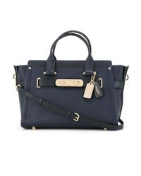 COACH - Blue Swagger Tote - Lyst