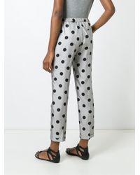 Alberto Biani - Black Polka Dot Print Trousers - Lyst