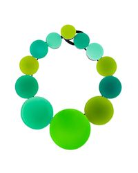 Monies - Blue Circles Necklace - Lyst