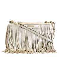 Rebecca Minkoff | White 'finn' Fringed Cross Body Bag | Lyst