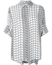 KENZO   Black Geometric Print Shirt   Lyst
