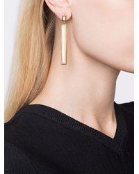 Maiyet - Metallic Rectangular Drop Earrings - Lyst