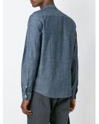 Carhartt | Blue Mandarin Collar Shirt for Men | Lyst