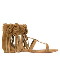 Ash   Natural 'ophely' Studded Sandals   Lyst