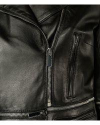 Christopher Kane - Black Zip-off Hem Biker Jacket - Lyst