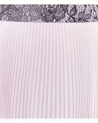 Christopher Kane - Pink Long Pleated Skirt - Lyst