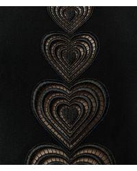 Christopher Kane - Black Love Heart Motif Top - Lyst