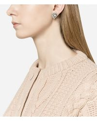 Christopher Kane - Metallic Small Love Heart Stud Earrings - Lyst