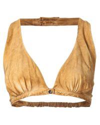 Vivienne Westwood Gold Label | Brown 'orazio' Bralet Top | Lyst