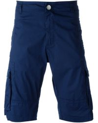 Armani Jeans - Blue Chino Shorts for Men - Lyst