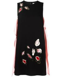 MSGM - Black Embellished Sleeveless Dress - Lyst