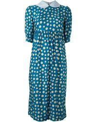 Comme des Garçons | Blue Polka Dot Dress | Lyst