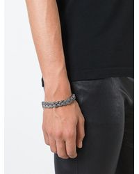 Emanuele Bicocchi - Gray Braided Bracelet for Men - Lyst