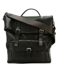 Neil Barrett - Black Buckled Messenger Bag for Men - Lyst