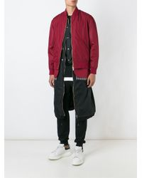 Casely-Hayford | Purple Double Effect Inset Bomber Jacket for Men | Lyst