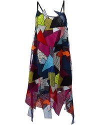 Christopher Kane   Multicolor Patchwork Dress   Lyst