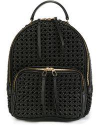 Benedetta Bruzziches - Black Interlaced Textured Backpack - Lyst