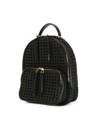 Benedetta Bruzziches - Black Interlaced Textured Backpack - Lyst