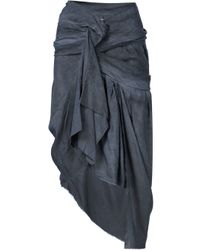 Vivienne Westwood Gold Label - Black Draped Asymmetric Skirt - Lyst