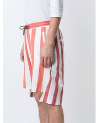 Vivienne Westwood - Red High Low Hem Shorts for Men - Lyst