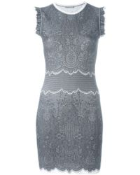 Alexander McQueen | White Lace Jacquard Dress | Lyst
