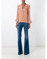 See By Chloé - Blue See By Chloé Ruffled Trim Shirt - Lyst