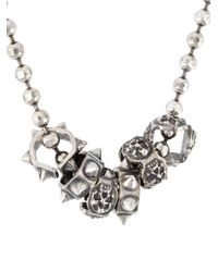 Emanuele Bicocchi - Metallic Studded Charms Necklace for Men - Lyst
