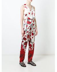 Philipp Plein - Red 'chill Time' Jumpsuit - Lyst