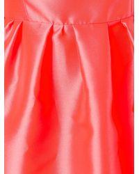 Blumarine - Orange Metallic Effect Flared Dress - Lyst