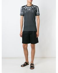 Dolce & Gabbana - Gray Printed T-shirt for Men - Lyst