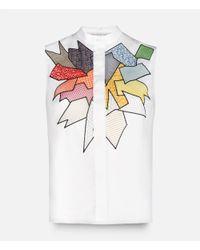 Christopher Kane - White Smash Motif Sleeveless Shirt - Lyst