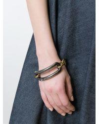 Tomas Maier - Metallic Contrast Chain Bracelet - Lyst