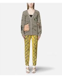 Christopher Kane - Multicolor Printed Leather Trousers With Zip - Lyst