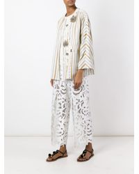 Antonio Marras - Multicolor Embellished Striped Boxy Jacket - Lyst