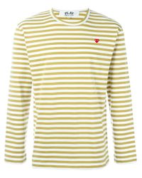Play Comme des Garçons | Black Comme Des Garçons Play Mini Heart Striped T-shirt for Men | Lyst